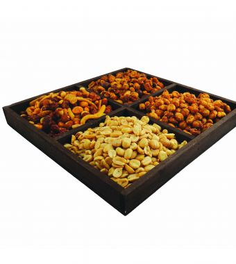 Product Name: Wooden Party Tray with 875gm of mixed nuts